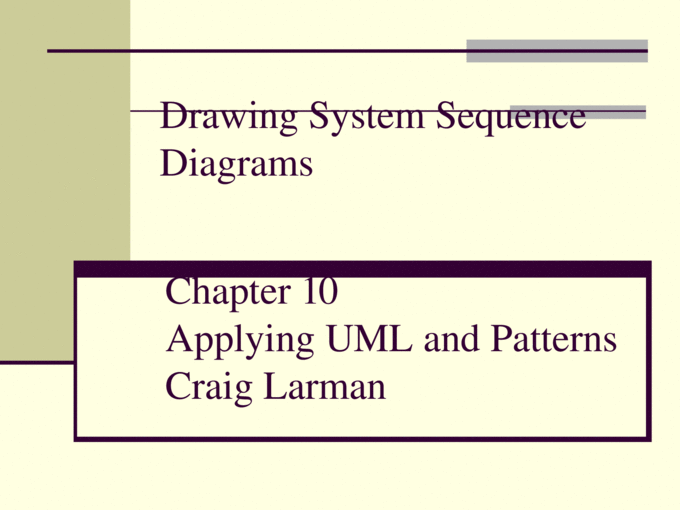 Drawing System Sequence Diagrams - PPTX Powerpoint